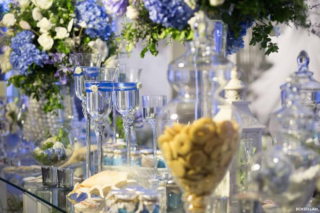Cận cảnh đám cưới kỳ công xanh màu đại dương của Shark Hưng (Thương vụ bạc tỷ) và cô dâu Á hậu - Ảnh 29.