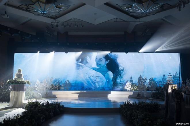 Cận cảnh đám cưới kỳ công xanh màu đại dương của Shark Hưng (Thương vụ bạc tỷ) và cô dâu Á hậu - Ảnh 8.