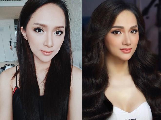 Dưới bàn tay trang điểm của chuyên gia người Thái, nhan sắc của Hoa hậu Hương Giang trông khác lạ bất ngờ - Ảnh 7.