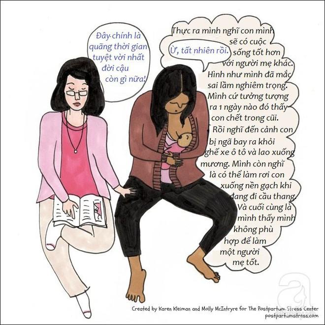 Những hình ảnh cho thấy trầm cảm sau sinh khiến người mẹ có suy nghĩ đáng sợ đến thế nào - Ảnh 3.