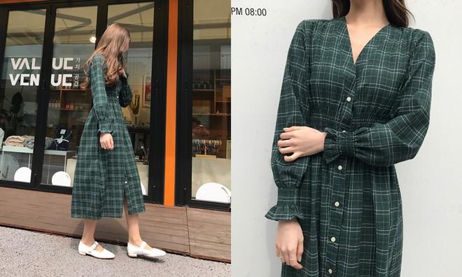 Trong loạt kiểu váy kẻ đang hot dịp đầu hè 2018, váy sơ mi vẫn là món đồ dễ mặc và luôn đẹp - Ảnh 1.