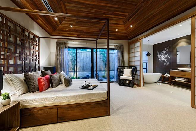 18 kiểu phòng tắm tích hợp phòng ngủ đẹp không khác gì khách sạn - Ảnh 4.