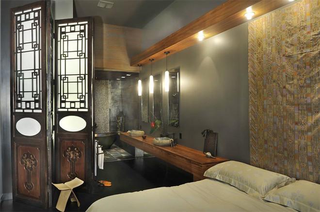 18 kiểu phòng tắm tích hợp phòng ngủ đẹp không khác gì khách sạn - Ảnh 6.