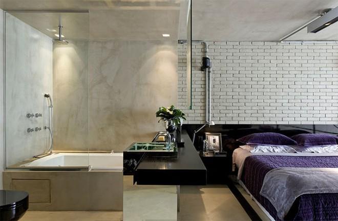 18 kiểu phòng tắm tích hợp phòng ngủ đẹp không khác gì khách sạn - Ảnh 7.