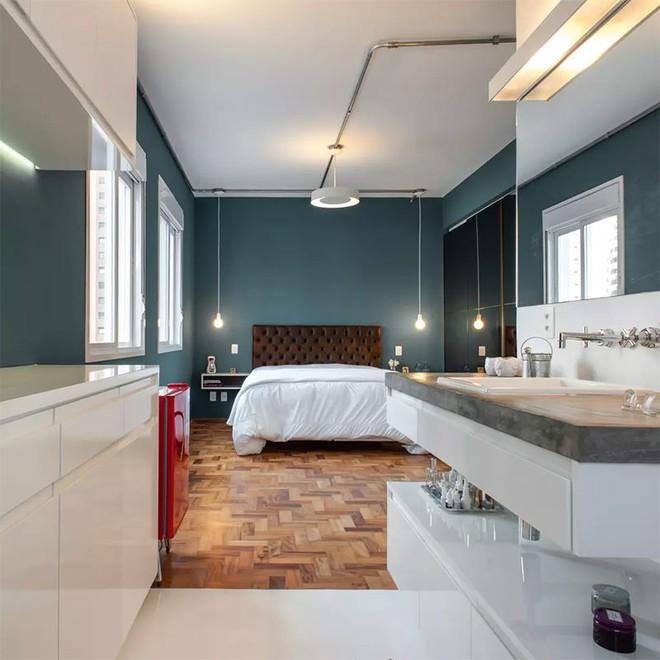 18 kiểu phòng tắm tích hợp phòng ngủ đẹp không khác gì khách sạn - Ảnh 12.