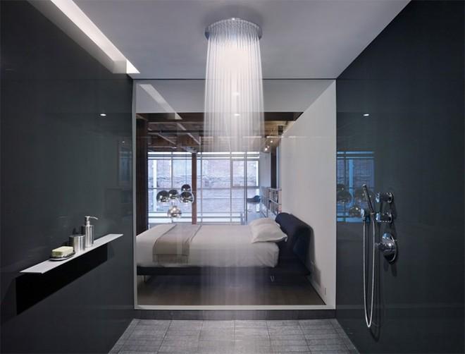 18 kiểu phòng tắm tích hợp phòng ngủ đẹp không khác gì khách sạn - Ảnh 14.