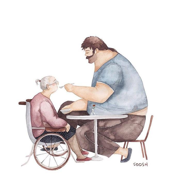 Tan chảy trước bộ tranh một gia đình nhỏ, một hạnh phúc to, ai xem xong cũng ước ao nhà mình được như thế - Ảnh 2.