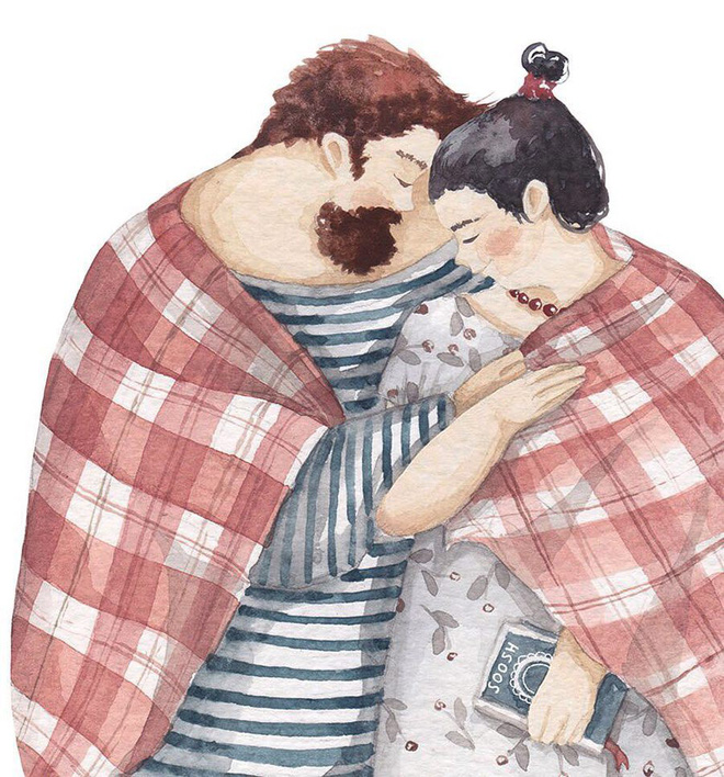 Tan chảy trước bộ tranh một gia đình nhỏ, một hạnh phúc to, ai xem xong cũng ước ao nhà mình được như thế - Ảnh 4.