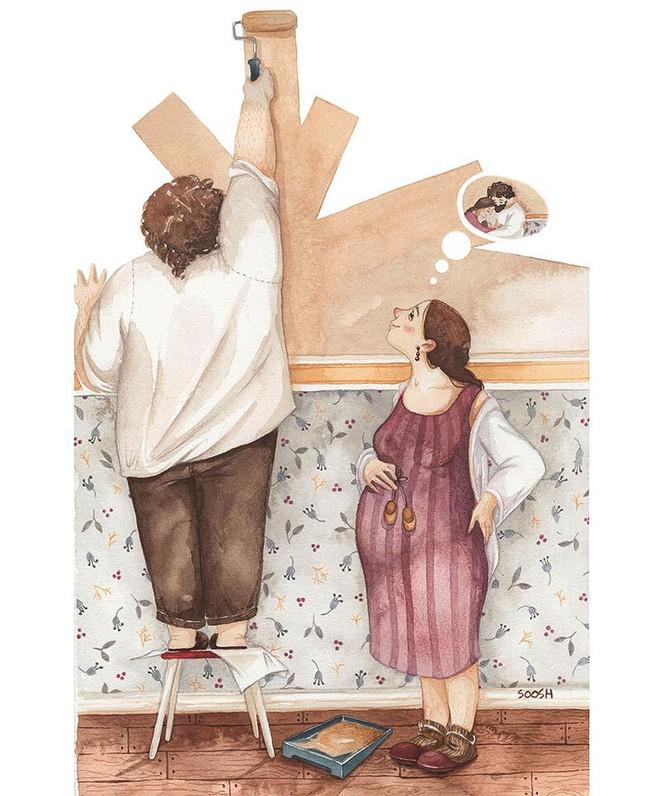Tan chảy trước bộ tranh một gia đình nhỏ, một hạnh phúc to, ai xem xong cũng ước ao nhà mình được như thế - Ảnh 6.