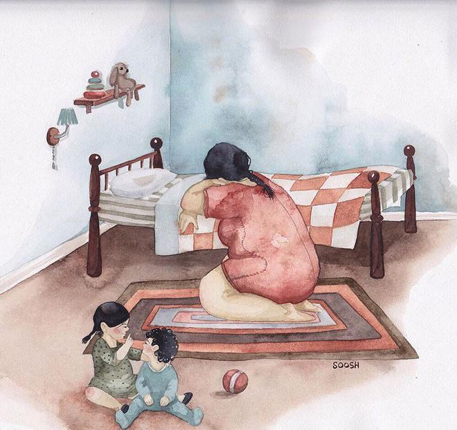 Tan chảy trước bộ tranh một gia đình nhỏ, một hạnh phúc to, ai xem xong cũng ước ao nhà mình được như thế - Ảnh 14.
