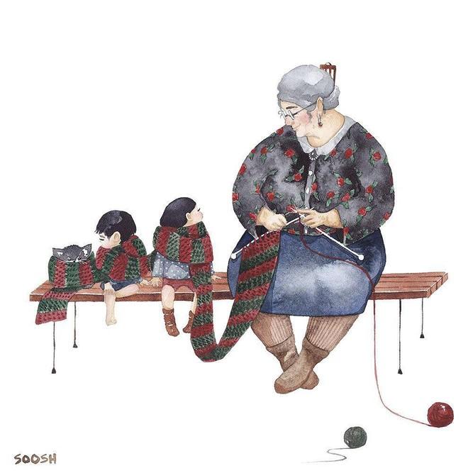 Tan chảy trước bộ tranh một gia đình nhỏ, một hạnh phúc to, ai xem xong cũng ước ao nhà mình được như thế - Ảnh 20.