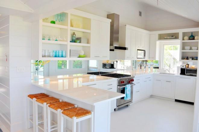 Những căn bếp với diện tích chưa đến 10m² nhưng nhờ sử dụng gam màu này lại trở nên rộng thênh thang và đẹp bất ngờ - Ảnh 9.