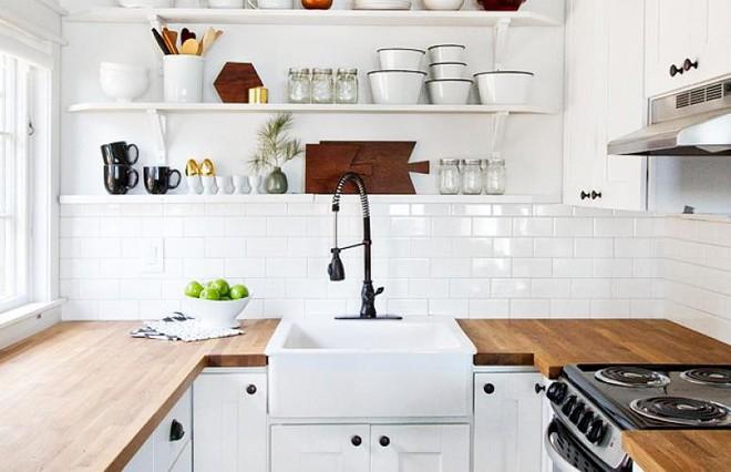 Những căn bếp với diện tích chưa đến 10m² nhưng nhờ sử dụng gam màu này lại trở nên rộng thênh thang và đẹp bất ngờ - Ảnh 7.