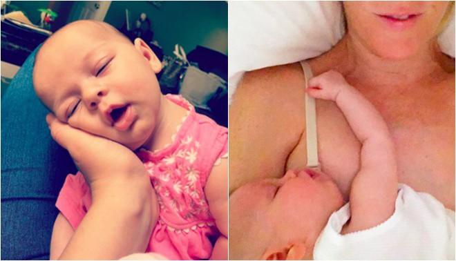 """Cận cảnh khuôn mặt hạnh phúc của những em bé """"phê"""" sữa sau khi bú mẹ - Ảnh 10."""