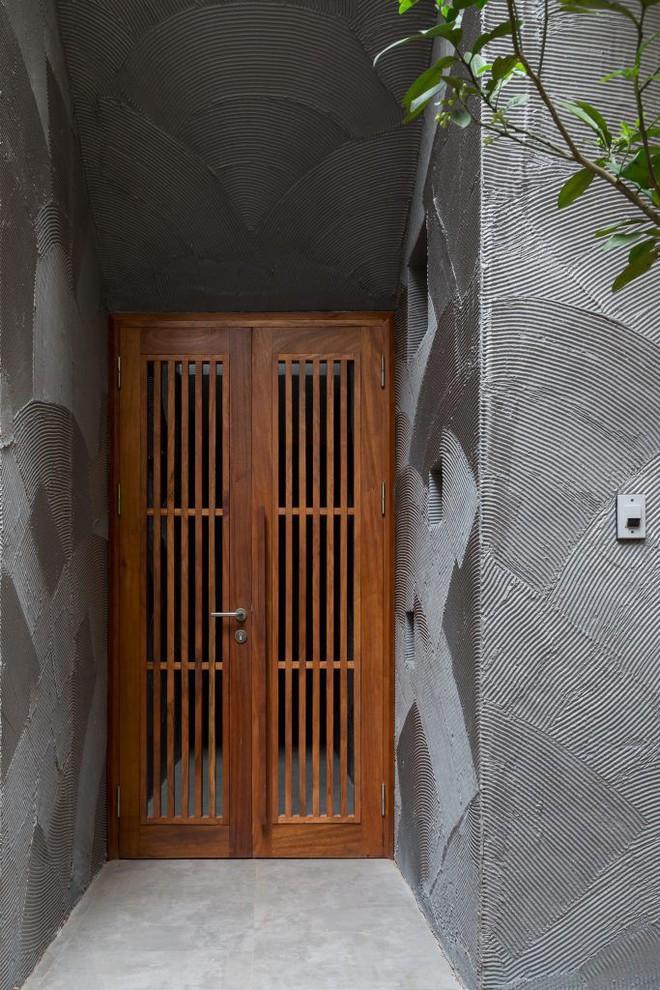 Ngôi nhà 66m² trong hẻm ấn tượng đến khó rời mắt nhờ bức tường cào vữa ở quận Cầu Giấy - Ảnh 3.