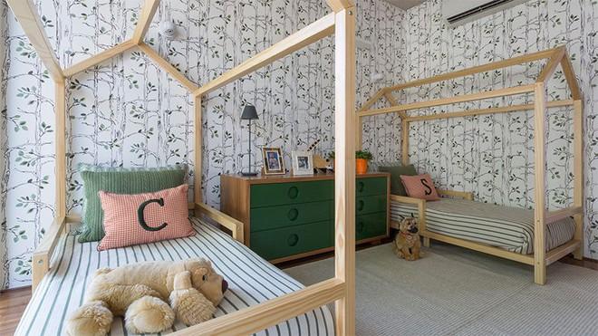 Thiết kế phòng ngủ cho cặp đôi song sinh siêu dễ thương  - Ảnh 4.