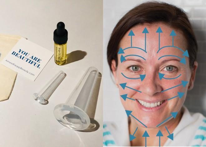Nhìn thì buồn cười nhưng phương pháp dùng cốc massage này lại giúp khuôn mặt trẻ ra mấy tuổi - Ảnh 2.