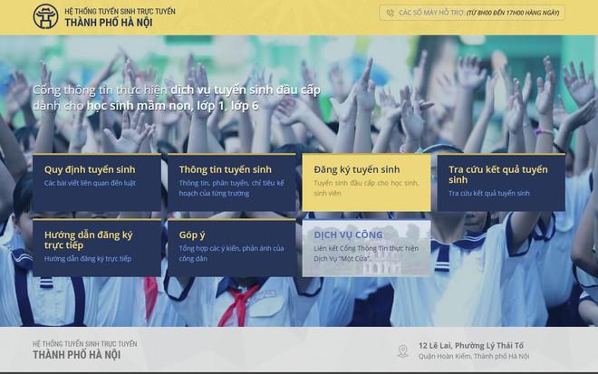 Hướng dẫn bố mẹ đăng ký tuyển sinh trực tuyến vào lớp 1 năm học 2018 - 2019 trên địa bàn Hà Nội - Ảnh 2.