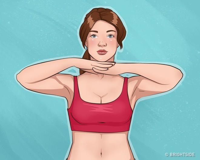 10 bài tập dễ dàng thực hiện cho cánh tay đẹp và ngực gọn gàng, căng mẩy - Ảnh 11.