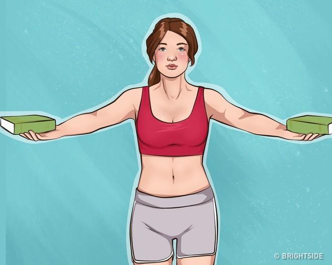 10 bài tập dễ dàng thực hiện cho cánh tay đẹp và ngực gọn gàng, căng mẩy - Ảnh 6.