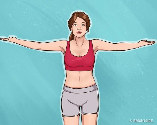 10 bài tập dễ dàng thực hiện cho cánh tay đẹp và ngực gọn gàng, căng mẩy - Ảnh 8.