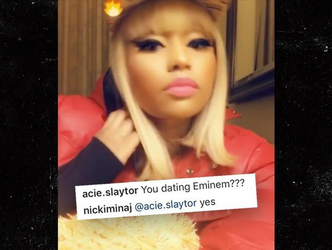 Sau khi khiến dân tình nháo nhào, Nicki Minaj bèn thú thật chỉ nói đùa chuyện hẹn hò rapper huyền thoại Eminem - Ảnh 2.