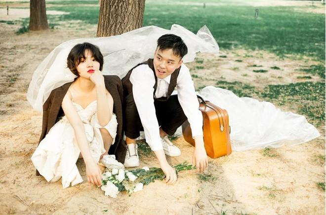 """""""Hãy yêu và cưới một chàng trai khiến bạn cười như thế"""": Bộ ảnh cưới cô dâu cười tít mắt khiến MXH chao đảo - Ảnh 6."""