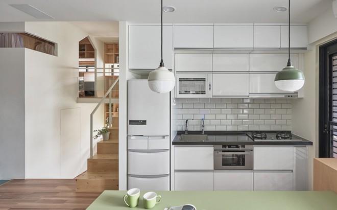 Ngôi nhà 40m² màu xanh matcha với thiết kế tầng lửng nhìn là yêu của gia đình trẻ - Ảnh 5.