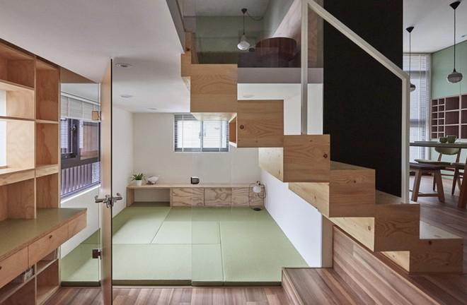 Ngôi nhà 40m² màu xanh matcha với thiết kế tầng lửng nhìn là yêu của gia đình trẻ - Ảnh 7.