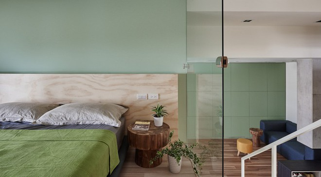 Ngôi nhà 40m² màu xanh matcha với thiết kế tầng lửng nhìn là yêu của gia đình trẻ - Ảnh 12.