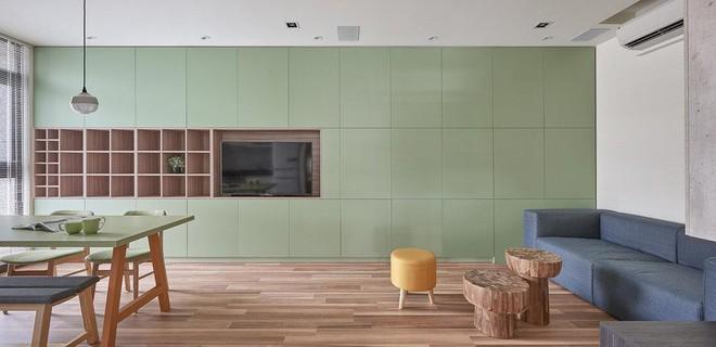 Ngôi nhà 40m² màu xanh matcha với thiết kế tầng lửng nhìn là yêu của gia đình trẻ - Ảnh 3.