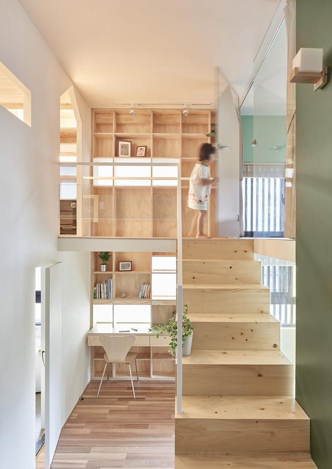 Ngôi nhà 40m² màu xanh matcha với thiết kế tầng lửng nhìn là yêu của gia đình trẻ - Ảnh 10.