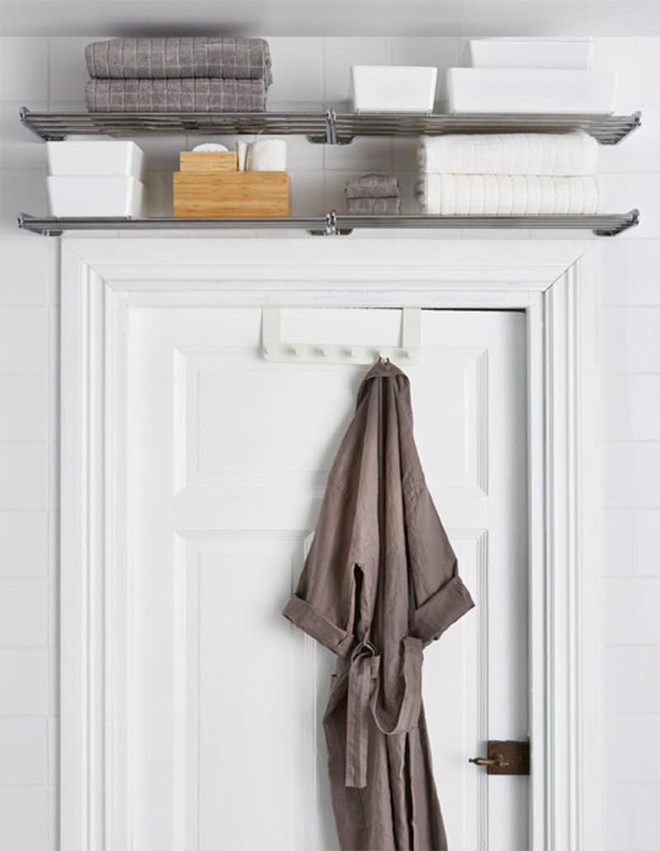 4 mẹo dễ như ăn kẹo, ai cũng làm được để tận dụng tối đa không gian phòng tắm nhỏ - Ảnh 4.