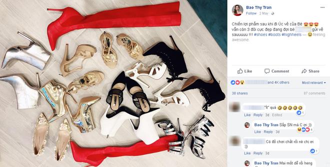 """Mừng sinh nhật tuổi 30, Bảo Thy """"bạo tay"""" sắm gần 20 đôi giày tốn cả trăm triệu đồng - Ảnh 6."""