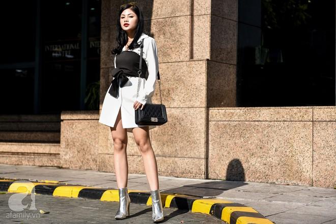 Mốt váy hạ cạp của Chi Pu được ứng dụng ngay trong street style của các quý cô miền Bắc tuần này - Ảnh 5.