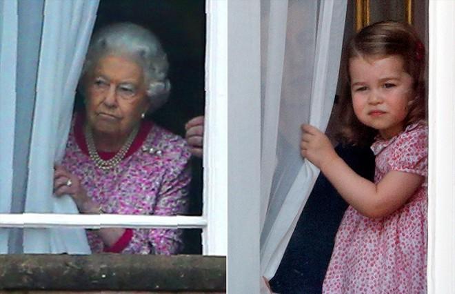 Chả trách Công chúa Charlotte lại có thần thái xuất chúng đến như vậy, hóa ra cô bé chính là bản sao hoàn hảo của Nữ hoàng - Ảnh 12.