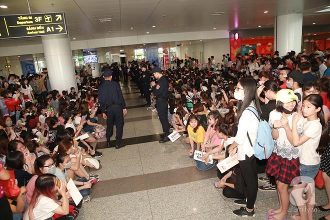 Quả bom sex Hyuna cùng dàn mỹ nam của Highlight chật vật di chuyển giữa biển fan Việt Nam - Ảnh 3.