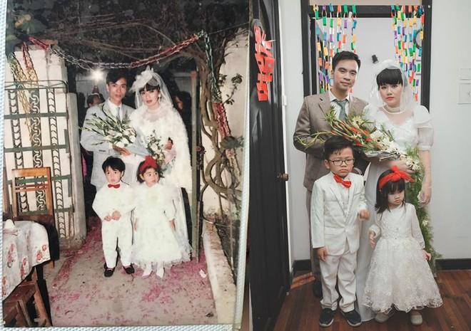 Đôi du học sinh Mỹ dành 6 tháng tái hiện đám cưới năm 1978 và 1992 của bố mẹ - Ảnh 2.