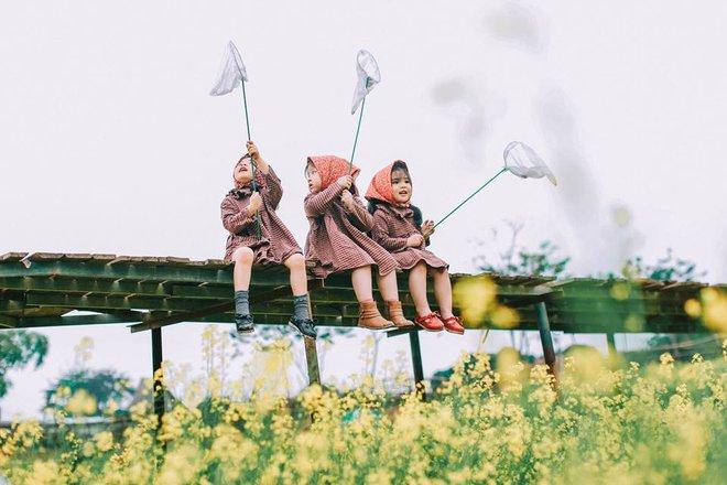 Bộ ba bạn thân Mầm - Mũm - Mon xuất hiện siêu yêu trong bộ ảnh chụp trên cánh đồng hoa cải - Ảnh 30.