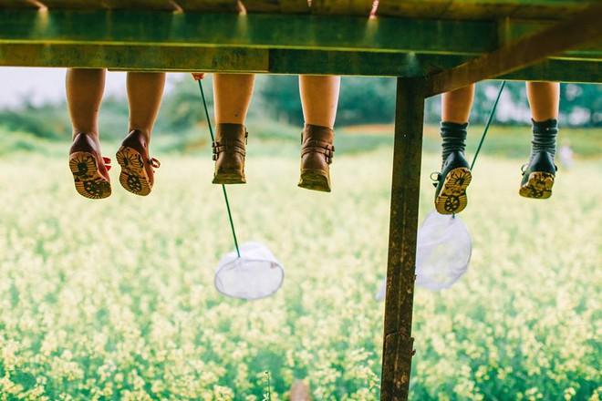 Bộ ba bạn thân Mầm - Mũm - Mon xuất hiện siêu yêu trong bộ ảnh chụp trên cánh đồng hoa cải - Ảnh 14.