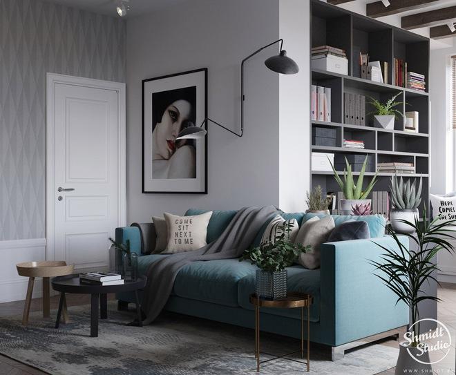 Căn hộ 3 phòng ngủ theo phong cách Scandinavian đẹp hoàn hảo như một bài thơ - Ảnh 3.