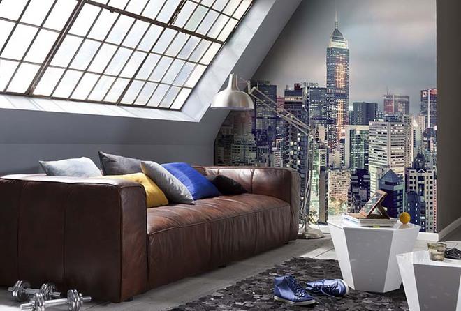 Chỉ cần khéo chọn giấy dán tường thôi cũng khiến không gian sống của bạn bừng sáng - Ảnh 13.