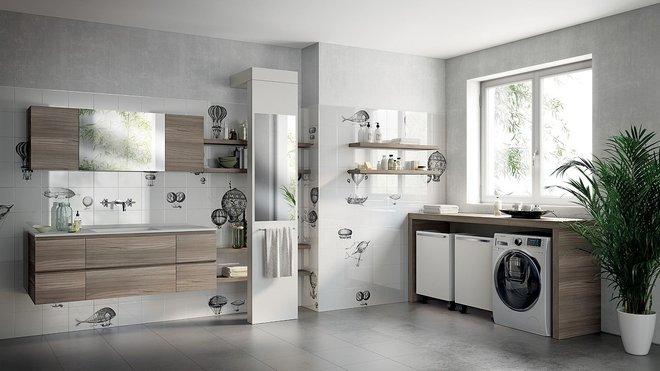 Ý tưởng mới chất lừ cho việc kết hợp phòng tắm và phòng giặt là thành không gian 2 trong 1 - Ảnh 1.