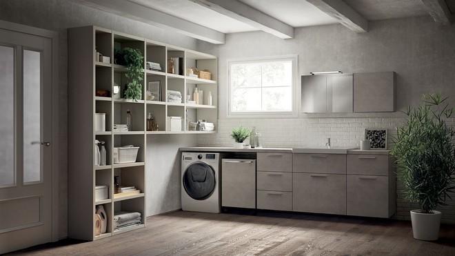 Ý tưởng mới chất lừ cho việc kết hợp phòng tắm và phòng giặt là thành không gian 2 trong 1 - Ảnh 3.
