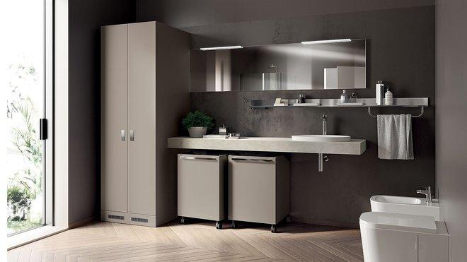 Ý tưởng mới chất lừ cho việc kết hợp phòng tắm và phòng giặt là thành không gian 2 trong 1 - Ảnh 9.