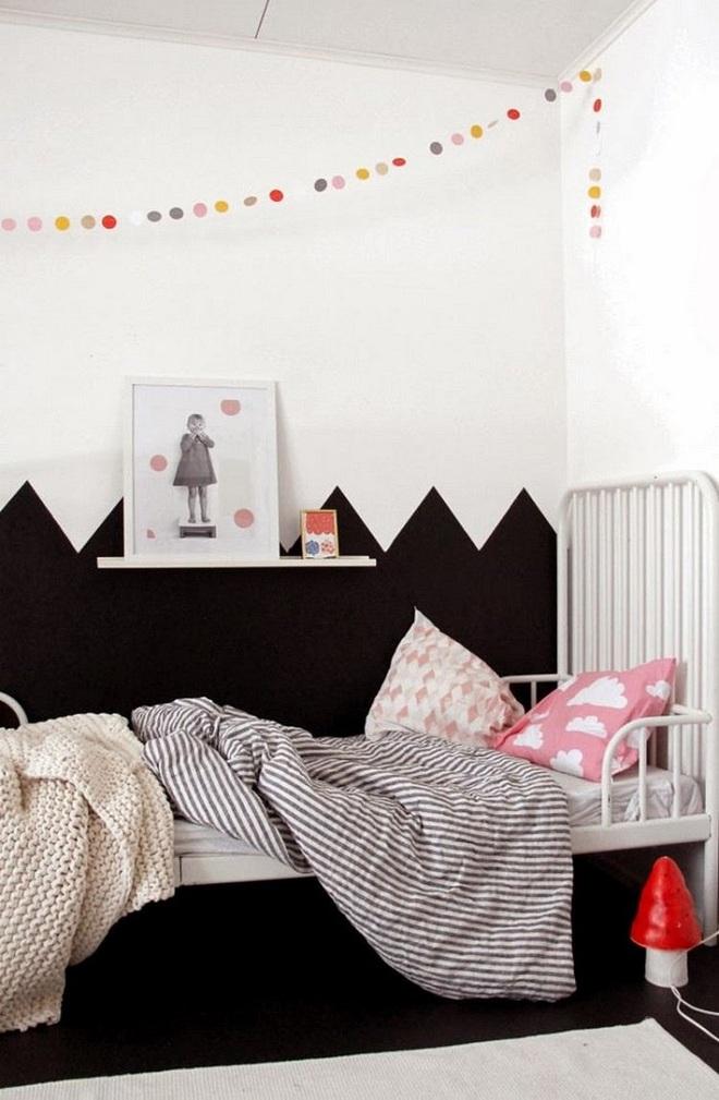 Những kiểu trang trí tường đen thật đẹp mắt trong phòng ngủ của các bé - Ảnh 1.