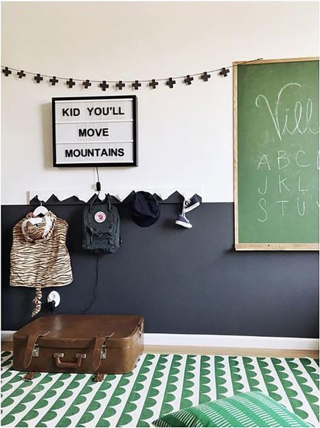 Những kiểu trang trí tường đen thật đẹp mắt trong phòng ngủ của các bé - Ảnh 3.