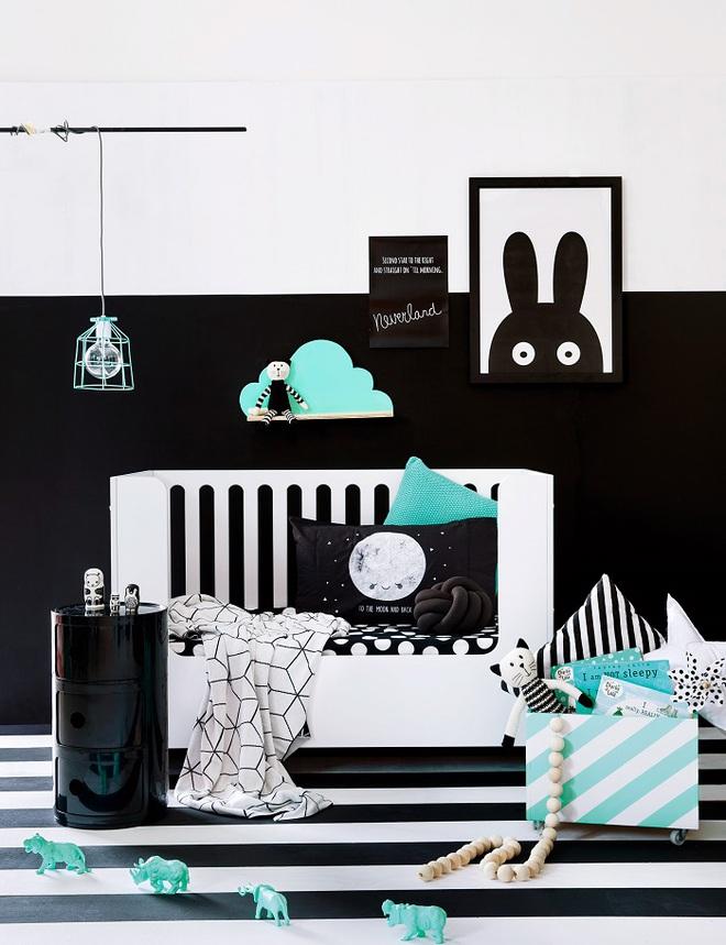 Những kiểu trang trí tường đen thật đẹp mắt trong phòng ngủ của các bé - Ảnh 4.