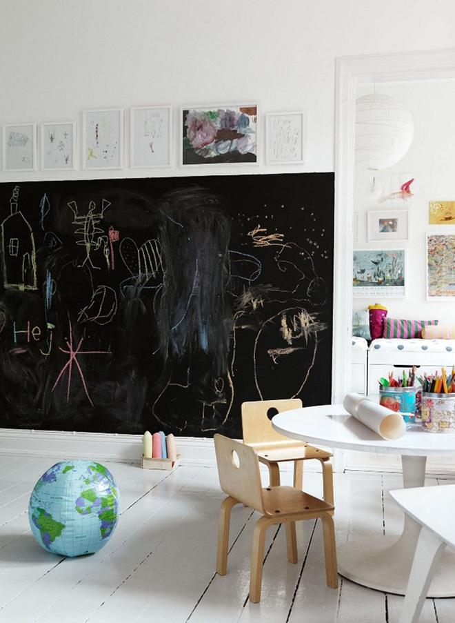 Những kiểu trang trí tường đen thật đẹp mắt trong phòng ngủ của các bé - Ảnh 6.