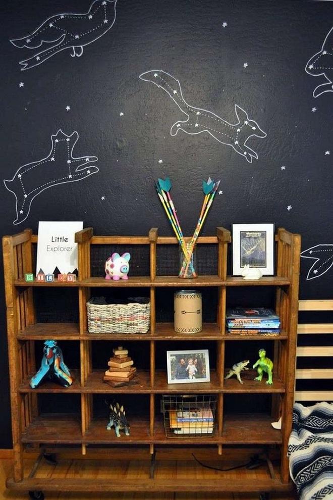 Những kiểu trang trí tường đen thật đẹp mắt trong phòng ngủ của các bé - Ảnh 10.